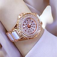 billige Quartz-Dame Quartz Armbåndsur Kinesisk Vandafvisende / Kreativ / Imiteret Diamant Rustfrit stål Bånd Vedhæng / Luksus / Glitrende / Punkt /