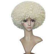 Femme Perruque Synthétique Court Très Frisé Blond Platine Perruque Naturelle Perruque Déguisement