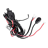 3M Length Extend Wire 1-2 Relay Harness Kit with Switch On/off using for LED Work Light/LED Light Bar(1 set)