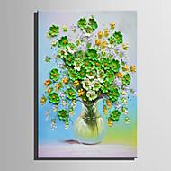 Pintados à mão Floral/Botânico Vertical,Retro 1 Painel Tela Pintura a Óleo For Decoração para casa
