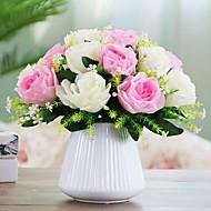 Χαμηλού Κόστους Ψεύτικα Λουλούδια-Ψεύτικα λουλούδια 1 Κλαδί μινιμαλιστικό στυλ Φυτά Λουλούδι για Τραπέζι