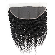 Deep Wave Brazilian Virgin Hair 13x4 Lace Closure with Bleached Knots Ear To Ear Frontals Pre Plucked