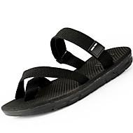 זול -בגדי ריקוד גברים נעליים PU אביב קיץ סוליות מוארות גלדיאטור נוחות סנדלים ל קזו'אל שחור חום