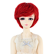 Naisten Synteettiset peruukit Laineikas Punainen Doll Wig puku Peruukit