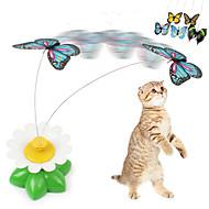お買い得  犬用おもちゃ-猫用おもちゃ ペット用おもちゃ ティーザー 蝶型 プラスチック ペット用
