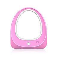 Led oglindă luminată machiaj cu umidificator portabil machiaj de călătorie cosmetice oglindă birou de masă