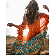 Damen Boho Boho Orange Cover-Up Bademode - Geometrisch Druck Einheitsgröße Orange