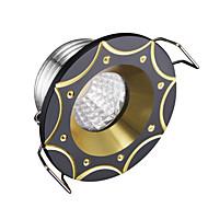 baratos Luzes LED de Encaixe-3W LEDs Regulável Lâmpada de Embutir Branco Frio 220V
