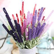 10個 10 ブランチ シルク ポリエステル ライトブルー テーブルトップフラワー 人工花