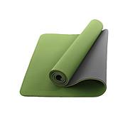 billige Matter-Yogamatte Sklisikker TPE Til Ferskenblås, Eviggrønn, Lilla