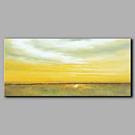 baratos -Pintados à mão Abstrato Horizontal,Moderno/Contemporâneo 1 Painel Tela Pintura a Óleo For Decoração para casa