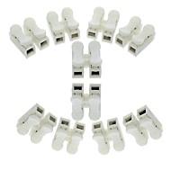 billige Lysbrytere-10 stk 2p fjærkoblingstråd uten sveising ingen skruer hurtigkontakt kabelklemme klemme 2-veis lett passform for leddstrimmel