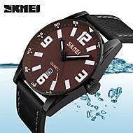 billige Quartz-Herre Quartz Digital Digital Watch Armbåndsur Smartur Militærur Sportsur Kinesisk Kalender Stor urskive Ægte læder Bånd Vedhæng Kreativ