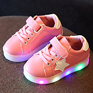 Girls' Shoes Leather Tulle Spring Summer Fall Light Up Shoes Sneakers Walking Shoes LED For Casual Outdoor White Black Light Green