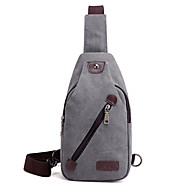 Men Bags Canvas Sling Shoulder Bag for Casual Spring All Seasons Black Gray Coffee Brown