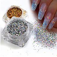 1g / sticla de moda superba aur / argintiu diy spumant paillette mini hexagon forma laser stralucind unghia art glitter 3d sfaturi unghii