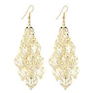 Žene Viseće naušnice Jewelry Stil višenja Vintage Boemski stil Elegantno Moda Simple Style Glina Pozlaćeni Legura Leaf Shape Geometric