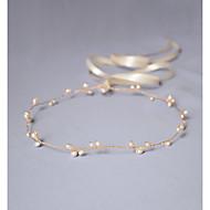 Imiteret Perle Pandebånd / Hovedkæde / Hårværktøj med 1 Bryllup / Speciel Lejlighed / Jubilæum Medaljon