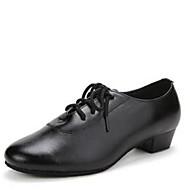 billige Moderne sko-Sko til latindans Kunstlær Høye hæler Kubansk hæl Kan spesialtilpasses Dansesko Svart / Innendørs