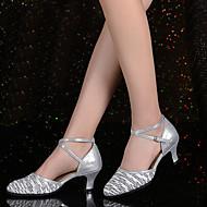 billige Moderne sko-Dame Moderne Strikket Glimtende Glitter Paljett Sandaler Joggesko Høye hæler Innendørs Gummi Spenne Strå Dusk Bølgemønster Drapert