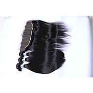 זול -שיער אנושי שיער ברזיאלי טווה שיער אדם ישר תוספות שיער 4 חלקים שחור