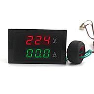 digitale dual-display ac voltmeter amperemeter (100 ~ 300V / 0 ~ 100a)