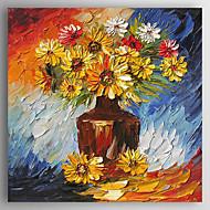 billiga Stilleben-Hang målad oljemålning HANDMÅLAD - Stilleben Abstrakt Duk