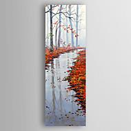 Handgeschilderde Landschap Verticaal,Abstract Eén paneel Canvas Hang-geschilderd olieverfschilderij For Huisdecoratie
