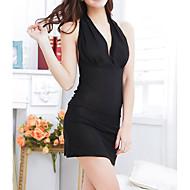 Žene Ultra seksi Odijelo Noćno rublje Jednobojni - Tanko Crn