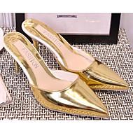 Damen Sandalen Pumps Lackleder Silica Gel Sommer Normal Gold Schwarz Silber Rosa 2,5 - 4,5 cm