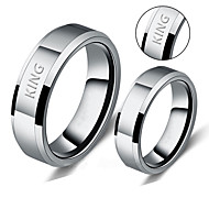 Fashion lovers ring can be customized and simple smooth lettering on the ring ring titanium graduation gift