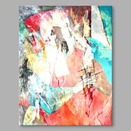 Χαμηλού Κόστους Πώληση-Hang-ζωγραφισμένα ελαιογραφία Ζωγραφισμένα στο χέρι - Αφηρημένο Αφηρημένο Μοντέρνο / Σύγχρονο Καμβάς