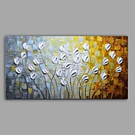 Hand-Painted Knife Flower Oil Painting Home Wall Art With Stretcher Frame Ready To Hang