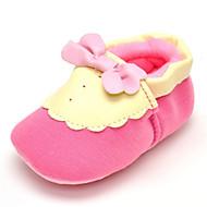 Baby Flate sko Komfort Tekstil Vår Høst Bryllup Avslappet Formell Fest/aften Komfort Sløyfe Flat hæl Rosa Flat