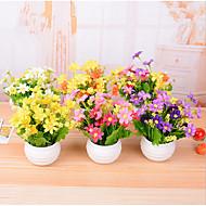 7 şube / pota plastik papatyalar mini masa çiçeği yapay çiçekler