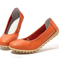 Women's Flats Light Soles Summer Fall Nappa Leather Casual White Black Orange Blushing Pink Khaki Under 1in