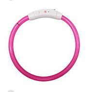 犬 リード DIYサプライ 反射 携帯用 調整可能 LCD ソリッド ダークブルー レッド ピンク