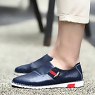お買い得  大きいサイズ/小さいサイズ 靴-男性用 靴 レザー / ピッグスキン 夏 / 秋 コンフォートシューズ ローファー&スリップアドオン ウォーキング ブラック / Brown / ブルー
