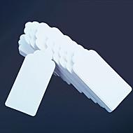お買い得  アイデア引出物-50pcs白カードの紙のタグ9.5 * 4.5センチメートル/個DIY結婚式の好意beterギフト®DIYあなたにタグクラフトありがとう