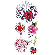 billiga Tatuering och body art-1 pcs Tatueringsklistermärken tillfälliga tatueringar Totemserier / Blomserier Vattentät Body art händer / arm / handled