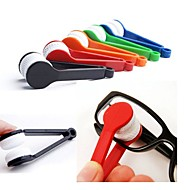 2Pcs   Mini Portable Glasses Brushes Eyeglass Sunglasses Spectacles Microfiber Cleaner Brushes Glass Cleaning Tools Random Color