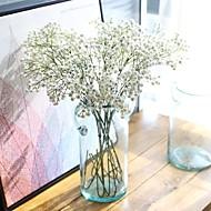 5-delig 5 Tak Zijde Polyester Gipskruid Bloemen voor op tafel Kunstbloemen