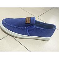 baratos Sapatos Masculinos-Homens Lona Primavera / Verão / Outono Conforto Mocassins e Slip-Ons Caminhada Antiderrapante Azul Escuro / Cinzento Escuro / Azul Claro