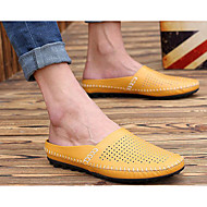 Women's Loafers & Slip-Ons Comfort Spring Cowhide Casual White Black Yellow Blue Flat