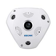billige IP-kameraer-Escam® hai qp180 hd 960p h.264 1,3mp 360 graders panoramisk fisheye infrarød kamera støtte vr boks
