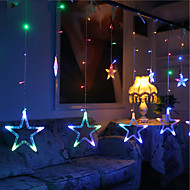 10m 60led rgb kerstverlichting ster lichten vakantie bruiloft feest decoraties gordijn lichten snaar lichten 220v