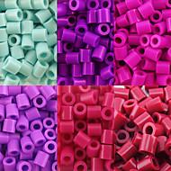 περίπου 500pcs / τσάντα 5 χιλιοστά χάντρες ασφάλεια hama diy παζλ eva υλικό safty για παιδιά (6 ανάμικτες χρώμα, Β38-Β43)