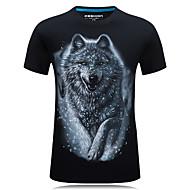 Rund hals Herre - Dyr Bomuld Aktiv Sport Plusstørrelser T-shirt