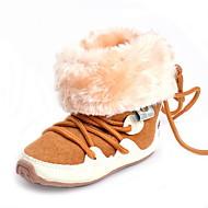 Bebê Rasos Conforto Primeiros Passos Botas da Moda Tecido Outono Inverno Casamento Casual Social Festas & Noite Cadarço Rasteiro Camel