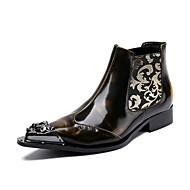 baratos Sapatos Masculinos-Homens sapatos Couro / Pele Outono / Inverno Botas da Moda / Curta / Ankle Botas Amarelo / Festas & Noite